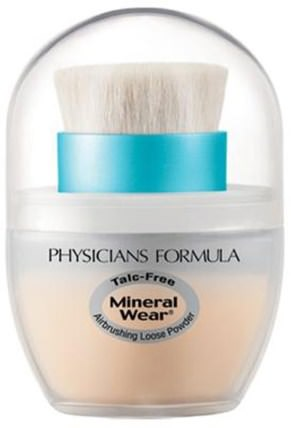 Mineral Wear, Mineral Airbrushing Loose Powder, Creamy Natural, SPF 30, 0.35 oz (10 g) by Physicians Formula, 沐浴,美容,化妝,粉餅 HK 香港