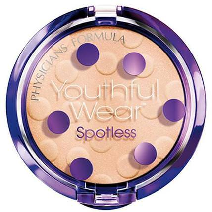 Youthful Wear, Cosmeceutical Youth-Boosting, Spotless Powder, Translucent, SPF 15, 0.33 oz (9.5 g) by Physicians Formula, 沐浴,美容,化妝,粉餅 HK 香港