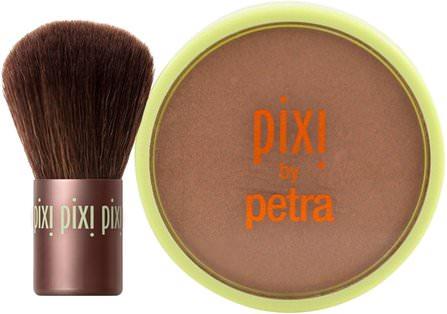 Pixi Beauty, Beauty Bronzer + Kabuki, Summertime.36 oz (10.21 g) 洗澡,美容,化妝工具,化妝刷,閃光/古銅色粉末