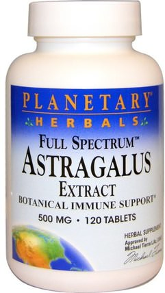 Astragalus Extract, Full Spectrum, 500 mg, 120 Tablets by Planetary Herbals, 健康,感冒和病毒,黃芪,補品,adaptogen HK 香港