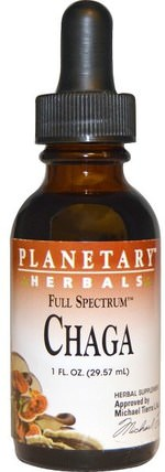 Full Spectrum, Chaga, 1 fl oz (29.57 ml) by Planetary Herbals, 補品,藥用蘑菇,chaga蘑菇 HK 香港