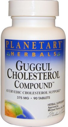 Guggul Cholesterol Compound, 375 mg, 90 Tablets by Planetary Herbals, 健康,排毒,triphala,草藥,guggul(commiphora mukul) HK 香港
