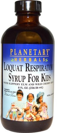Loquat Respiratory Syrup for Kids, 8 fl oz (236.56 ml) by Planetary Herbals, 兒童健康,感冒感冒咳嗽,健康,肺和支氣管 HK 香港