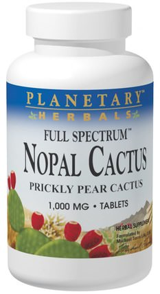 Nopal Cactus, Full Spectrum, Prickly Pear Cactus, 1.000 mg, 120 Tablets by Planetary Herbals, 健康,血糖,胭脂仙人掌(仙人掌仙人掌) HK 香港