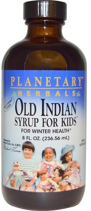 Old Indian Syrup for Kids, Wild Cherry Flavor, 8 fl oz (236.56 ml) by Planetary Herbals, 兒童健康,感冒感冒咳嗽,健康 HK 香港