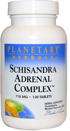 Schisandra Adrenal Complex, 710 mg, 120 Tablets by Planetary Herbals, 補充劑,腎上腺,五味子(五味子) HK 香港