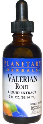 Planetary Herbals, Valerian Root, Liquid Extract, 2 fl oz (59.14 ml) 草藥,纈草