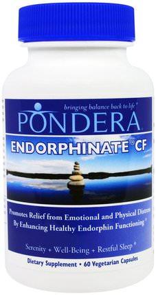 Pondera, Endorphinate CF, 60 Veggie Caps 補品,睡眠,健康,情緒