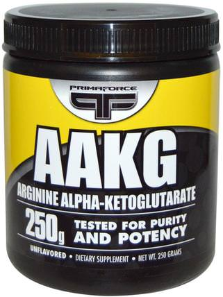 AAKG, Arginine Alpha-Ketoglutarate, Unflavored, 250 g by Primaforce, 補充劑,氨基酸,l精氨酸,aakg(精氨酸α酮戊二酸) HK 香港