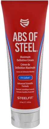 Abs of Steel, Maximum Definition Cream, 8 fl oz (237 ml) by Pro Tan USA, 運動,健康,皮膚 HK 香港