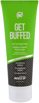 Get Buffed, Pre-Tan Body Scrub, Skin Balancing Exfoliator, Step 1, 8 fl oz (237 ml) by Pro Tan USA, 洗澡,美女 HK 香港