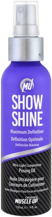 Pro Tan USA, Show Shine, Ultra-Light Competition Posing Oil, Step 4, 4 fl oz (118 ml) 運動,洗澡,美容
