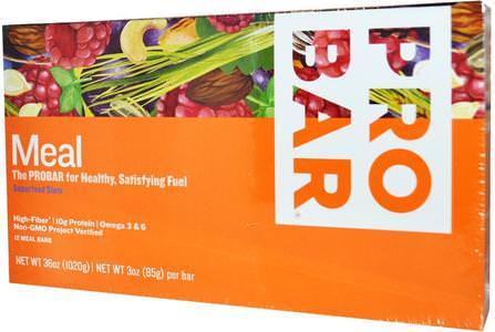 Meal Bar, Superfood Slam, 12 Bars, 3 oz (85 g) Per Bar by ProBar, 補充劑,營養棒 HK 香港