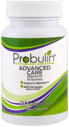 Probulin, Advanced Care, Digestive Enzymes, 60 Capsules 補充劑,酶