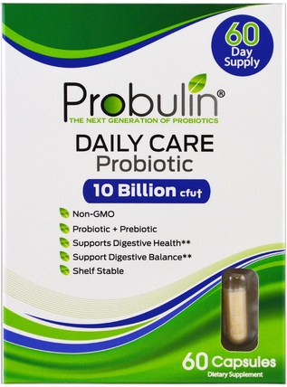 Daily Care, Probiotic, 60 Capsules by Probulin, 補充劑,益生菌 HK 香港