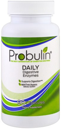 Daily Digestive Enzymes, 90 Capsules by Probulin, 補充劑,酶 HK 香港