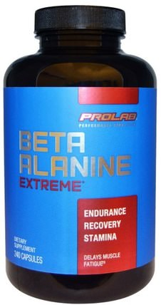 Beta Alanine Extreme, 240 Capsules by ProLab, 補充劑,合成代謝補品,β丙氨酸 HK 香港