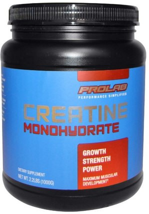 Creatine Monohydrate, 2.2 lbs (1000 g) by ProLab, 運動,肌酸粉 HK 香港