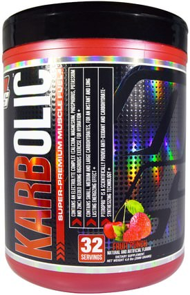 ProSupps, Karbolic, Super Premium Muscle Fuel, Fruit Punch, 4.6 lbs (2080 g) 運動,鍛煉,運動
