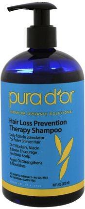 Hair Loss Prevention Therapy Shampoo, 16 fl oz (473 ml) by Pura Dor, 洗澡,美容,頭髮,頭皮,洗髮水,護髮素 HK 香港