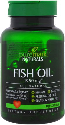 Fish Oil, 1950 mg, 90 Softgels by PureMark Naturals, 補充劑,efa omega 3 6 9(epa dha) HK 香港