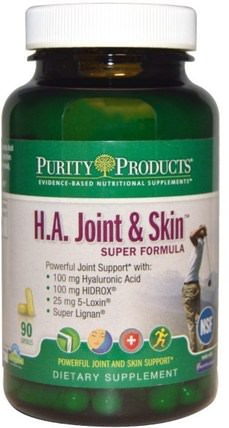 Purity Products, H.A. Joint & Skin, Super Formula, 90 Capsules 健康,女性,透明質酸,皮膚