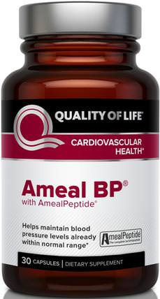 Ameal BP, Cardiovascular Health, 30 Capsules by Quality of Life Labs, 健康,血壓 HK 香港