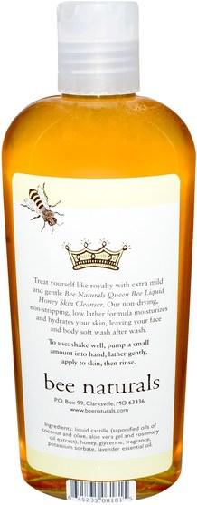 蜂王集合,原始蜂自然 - Bee Naturals, Queen Bee Liquid Honey Skin Cleanser, 8 oz