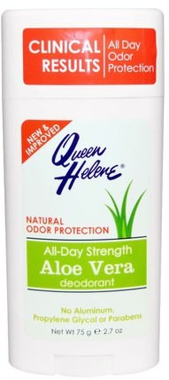 All-Day Strength Deodorant, Aloe Vera, 2.7 oz (75 g) by Queen Helene, 洗澡,美容,除臭劑 HK 香港