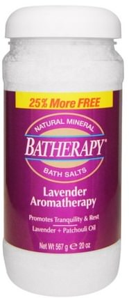 Batherapy, Natural Mineral Bath Salts, Lavender Aromatherapy, 20 oz (567 g) by Queen Helene, 沐浴,美容,沐浴鹽,香薰精油,香薰浴 HK 香港
