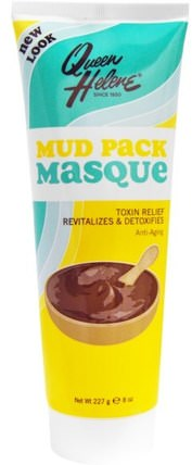 Mud Pack Masque, Toxin Relief, Anti-Aging, 8 oz (227 g) by Queen Helene, 美容,面部護理,皮膚類型抗衰老皮膚,面膜,粘土面膜 HK 香港