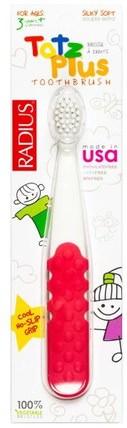 Totz Plus Toothbrush, 3+ Years, White/Pink Coral, 1 Toothbrush by RADIUS, 洗澡,美容,口腔牙齒護理,牙刷,兒童健康,嬰兒口腔護理 HK 香港