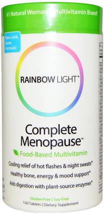 Complete Menopause Food-Based Multivitamin, 120 Tablets by Rainbow Light, 維生素,多種維生素,礦物質,鈣和鎂 HK 香港