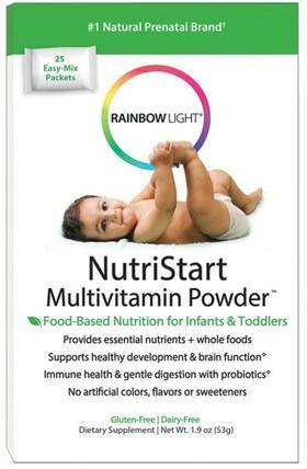 NutriStart, Multivitamin Powder, 25 Easy-Mix Packets, 1.9 oz (53 g) by Rainbow Light, 兒童健康,嬰兒,嬰兒補充劑,多種維生素,兒童多種維生素 HK 香港