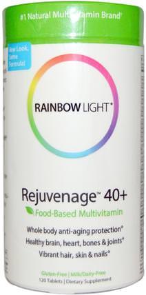 Rainbow Light, Rejuvenage 40+, Food-Based Multivitamin, 120 Tablets 健康,能量,維生素,男性多種維生素