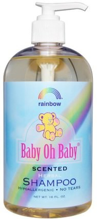 Baby Oh Baby, Herbal Shampoo, Scented, 16 fl oz by Rainbow Research, 洗澡,美容,洗髮水 HK 香港