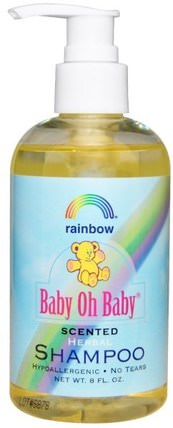 Baby Oh Baby, Herbal Shampoo, Scented, 8 fl oz by Rainbow Research, 洗澡,美容,洗髮水 HK 香港