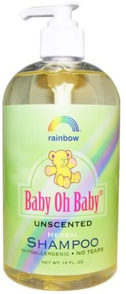 Baby Oh Baby, Herbal Shampoo, Unscented, 16 fl oz by Rainbow Research, 洗澡,美容,洗髮水 HK 香港