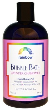 Bubble Bath, Lavender Chamomile, Gentle Formula, 12 fl oz (360 ml) by Rainbow Research, 洗澡,美容,泡泡浴 HK 香港