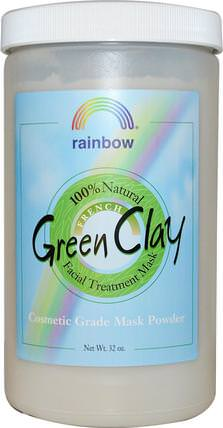 French Green Clay, Facial Treatment Mask Powder, 32 oz by Rainbow Research, 美容,面膜,泥面膜 HK 香港