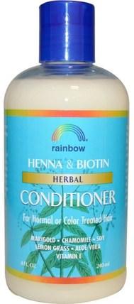 Henna & Biotin Herbal Conditioner, 8 fl oz (240 ml) by Rainbow Research, 洗澡,美容,護髮素,頭髮,頭皮,洗髮水,護髮素 HK 香港