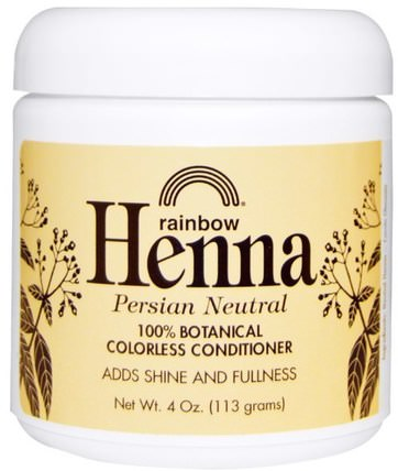Henna, Colorless Conditioner, Neutral, 4 oz (113 g) by Rainbow Research, 洗澡,美容,護髮素,頭髮,頭皮,洗髮水,護髮素 HK 香港