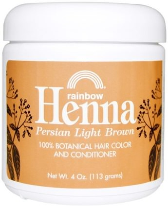 Henna, Hair Color and Conditioner, Light Brown, 4 oz (113 g) by Rainbow Research, 洗澡,美容,頭髮,頭皮,頭髮的顏色,頭髮護理 HK 香港