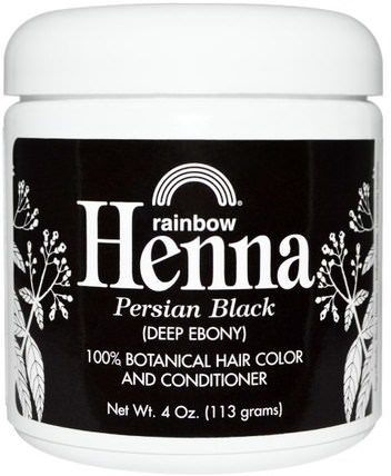 Henna, Hair Color & Conditioner, Black (Deep Ebony), 4 oz (113 g) by Rainbow Research, 洗澡,美容,頭髮,頭皮,頭髮的顏色,頭髮護理 HK 香港