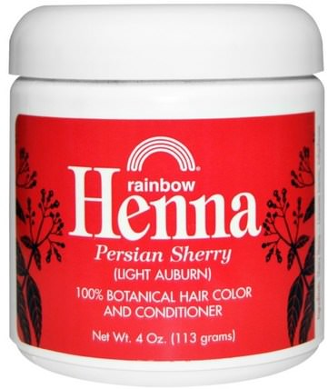 Henna, Hair Color & Conditioner, Sherry (Light Auburn), 4 oz (113 g) by Rainbow Research, 洗澡,美容,頭髮,頭皮,頭髮的顏色,頭髮護理 HK 香港
