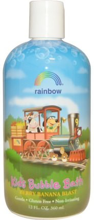 Kids Bubble Bath, Berry Banana Blast, 12 fl oz (360 ml) by Rainbow Research, 洗澡,美容,泡泡浴,兒童健康,兒童洗澡 HK 香港