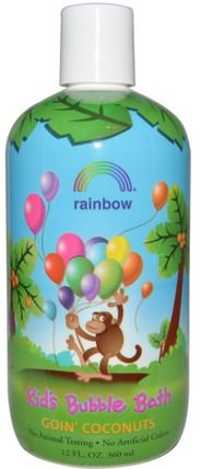 Kids Bubble Bath, Goin Coconuts, 12 fl oz (360 ml) by Rainbow Research, 洗澡,美容,泡泡浴,孩子泡泡浴 HK 香港