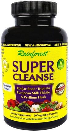 Rainforest, Super Cleanse, 90 Vegitable Capsules 健康,排毒