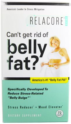 Extra, Belly Fat Pill, 72 Tablets by Relacore, 健康,抗壓力,飲食 HK 香港