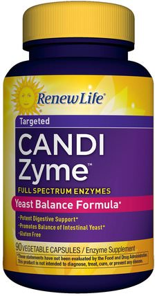 CandiZyme, Targeted, 90 Vegetable Capsules by Renew Life, 補充劑,酶,健康,念珠菌 HK 香港